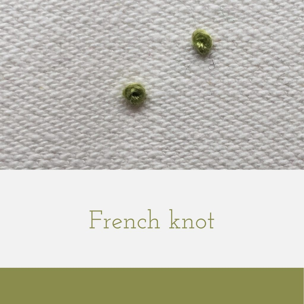 green french knot embroidery