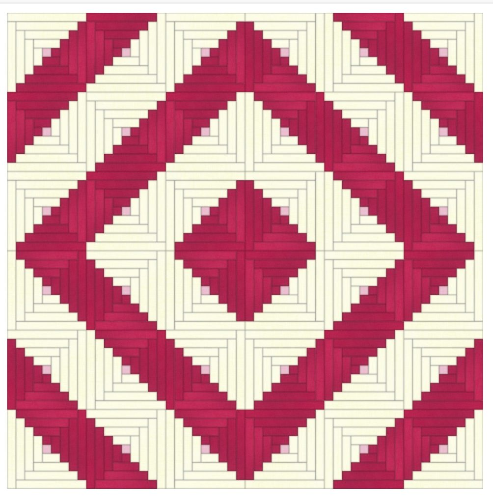 log cabin quilt layout