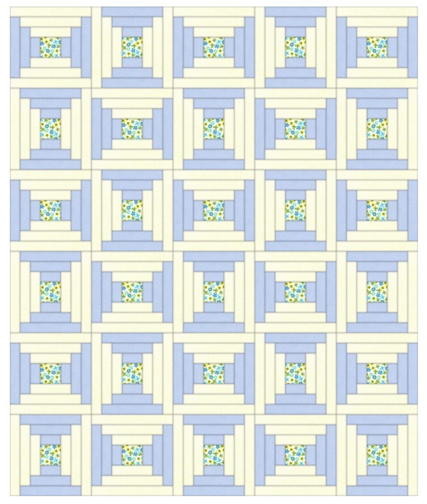courthouse steps quilt layout