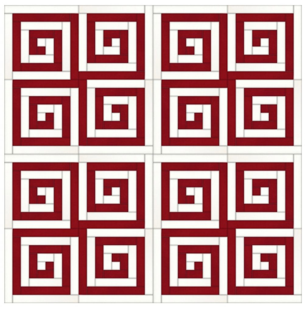 greek key quilt layout