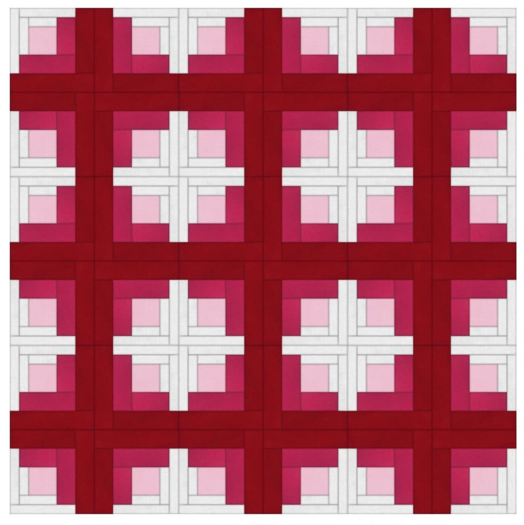 offset log cabin quilt layout