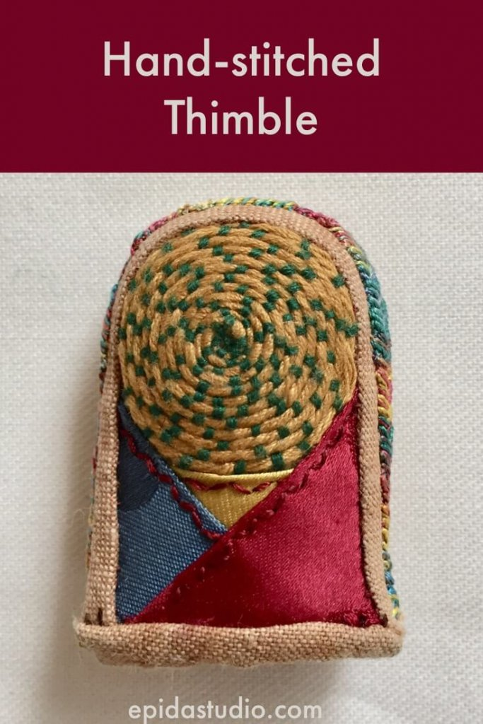 hand stitched thimble