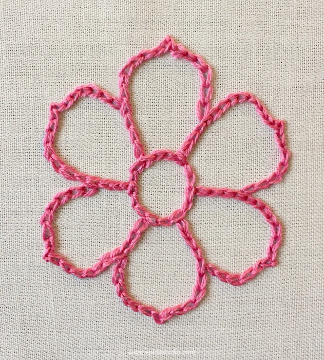 chain stitch embroidery tutorial
