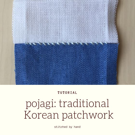 "sample seam with title ""Pojagi: traditional Korean patchwork"""