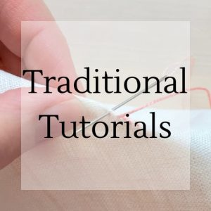 "stitching with text overlay ""traditional tutorials"""
