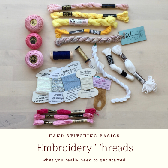 selection of embroidery threads with titel.